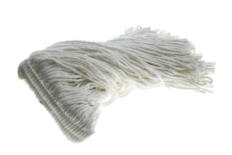 Wet Mop 20 Oz White Rayon Narrow Band Cut Ends - Each