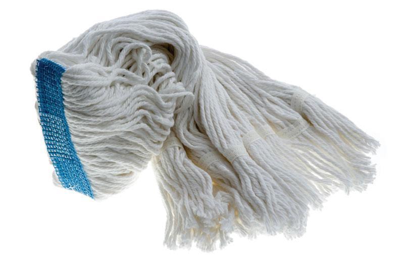 Wet Mop 24 Oz White Rayon Narrow Band Fan Tip