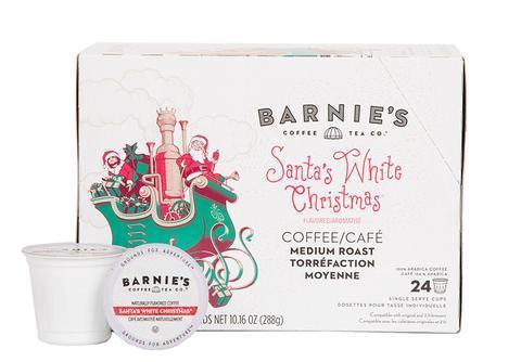 Barnie's Santa's White Christmas Single Serve Coffee Cups (24 Pack)