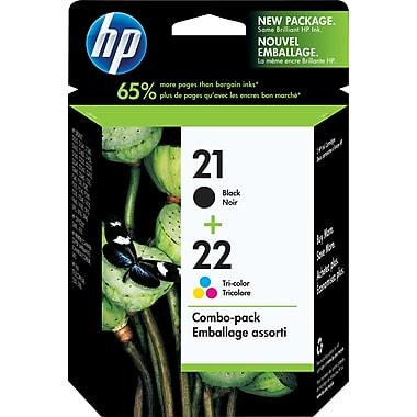 HP Original Black and Tri-Colour Ink Cartridges, 2/Pack Combo for #21 and #22 (C9509FN)