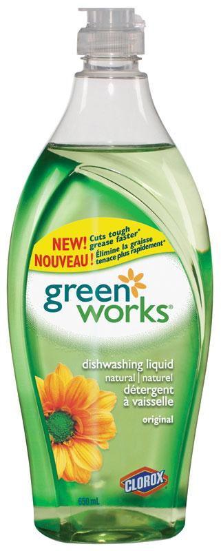 Green Works 650 ml Dishwashing Soap - 12 Bottles per case