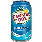 Canada Dry Club Soda - 355 mL Cans - 12/Pack