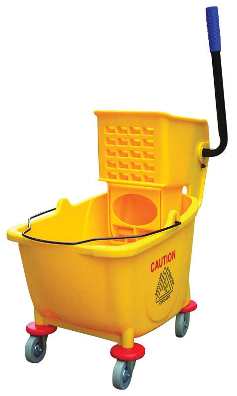 Bucket And Wringer Combo Yellow 8.5 Gal Side Press