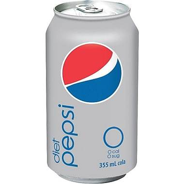 Diet Pepsi Cola - 355 mL Cans - 24/Pack