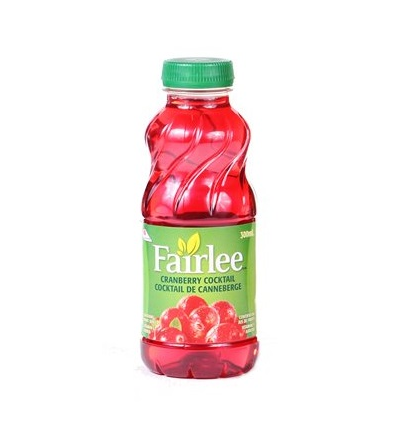 Fairlee Cranberry Cocktail Juice 300 mL - 24 bottles