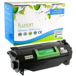 Fuzion New Compatible Black Toner Cartridge for Lexmark 62D1X00