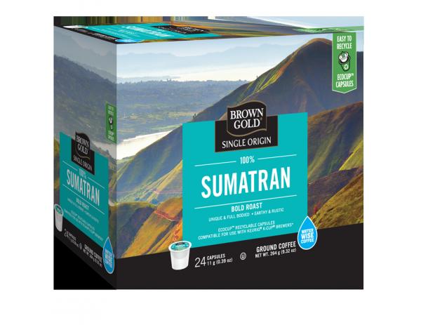 Brown Gold 100% Sumatran Single Serve Coffee (24 Pack)