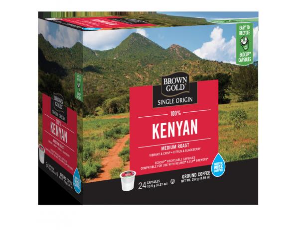 Brown Gold 100% Kenyan Single Serve Coffee (24 Pack)