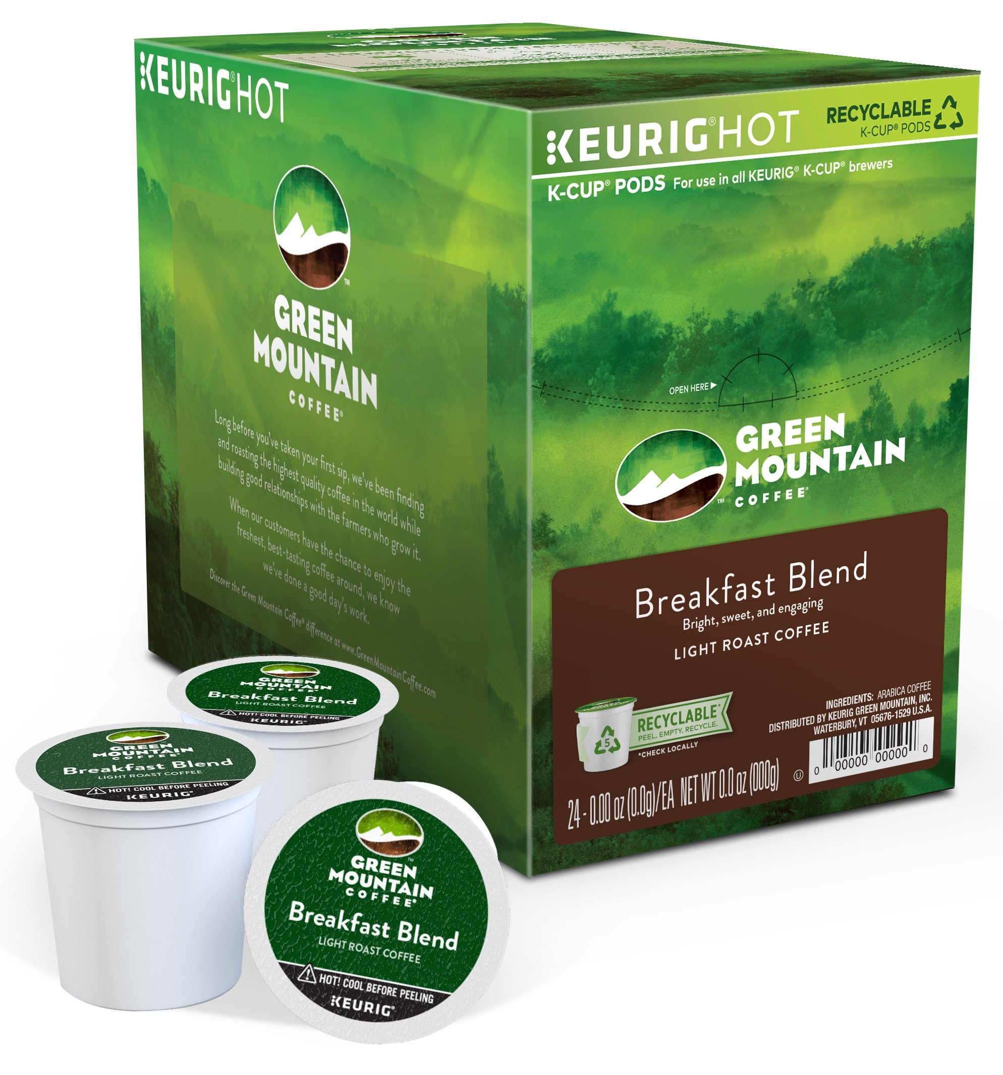 Green Mountain Coffee® Breakfast Blend Single Serve K-Cup® Pods (24 Pack)