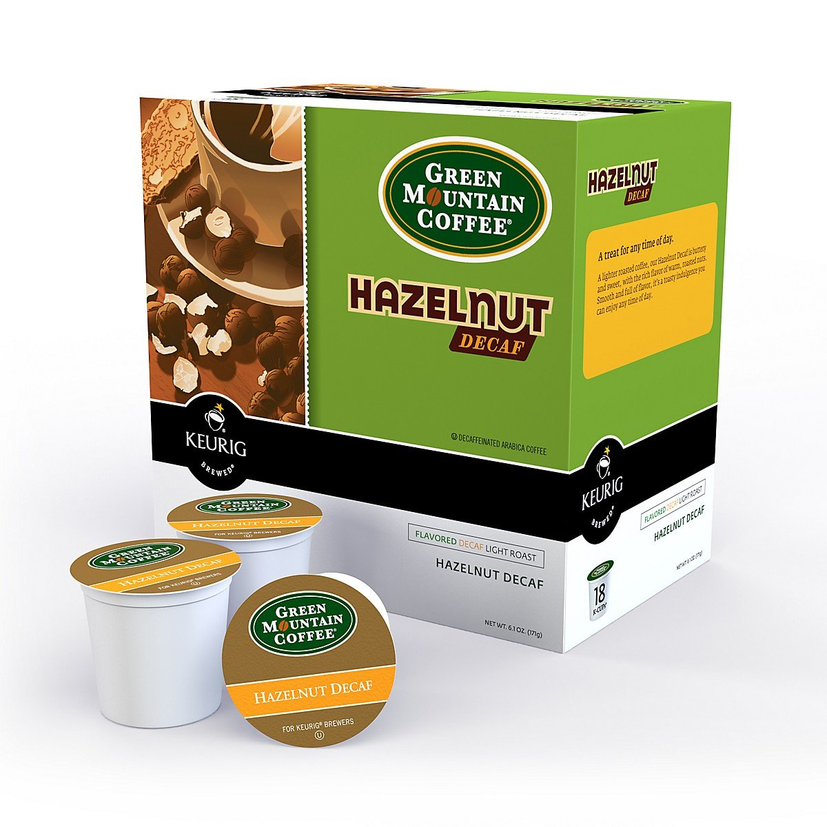 Green Mountain Coffee® Hazelnut Decaf Single Serve K-Cup® Pods (24 Pack)