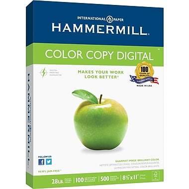 "Hammermill® Colour Copy Digital FSC-Certified Paper, 28 lb., 100 Bright, 8.5"" x 11"", Ream"