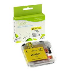 Fuzion New Compatible Yellow Ink Cartridge for Brother LC205YXX