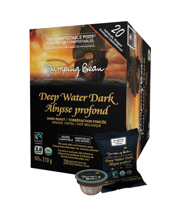 Jumping Bean Deep Water Dark Single Serve Coffee (20Pack)