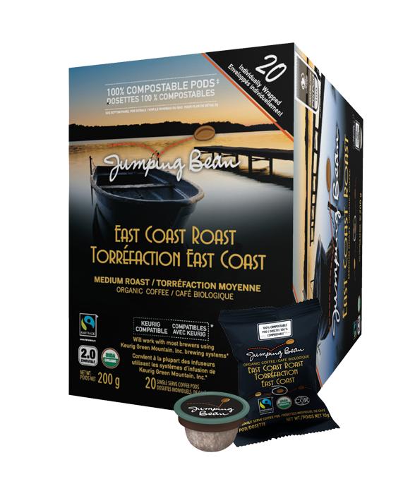 Jumping Bean East Coast Roast Single Serve Coffee (20Pack)