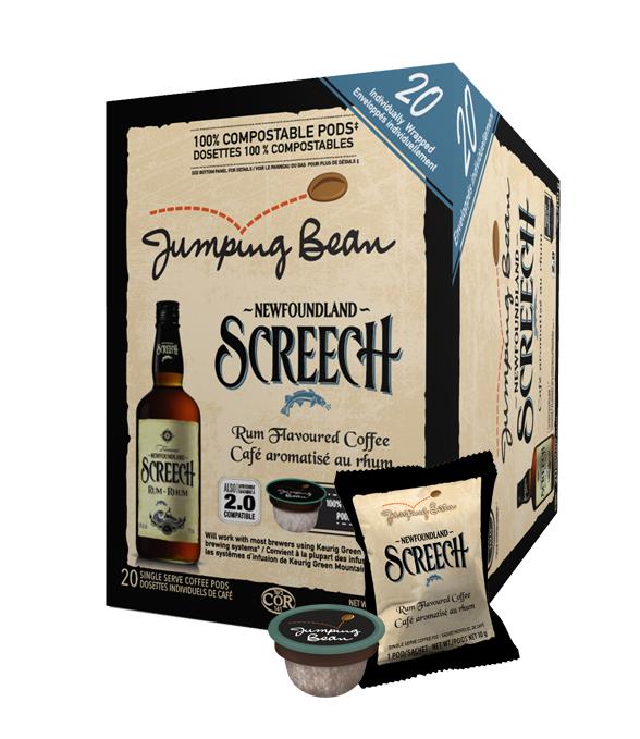 Jumping Bean Screech Single Serve Coffee (20Pack)