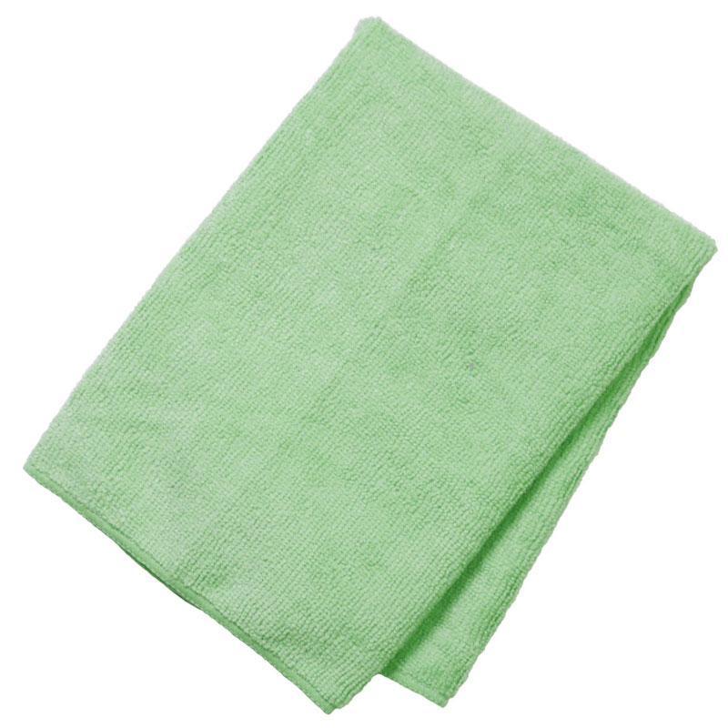 General Purpose Microfiber Cloth 16'' X 16'' Green - 12/Pack