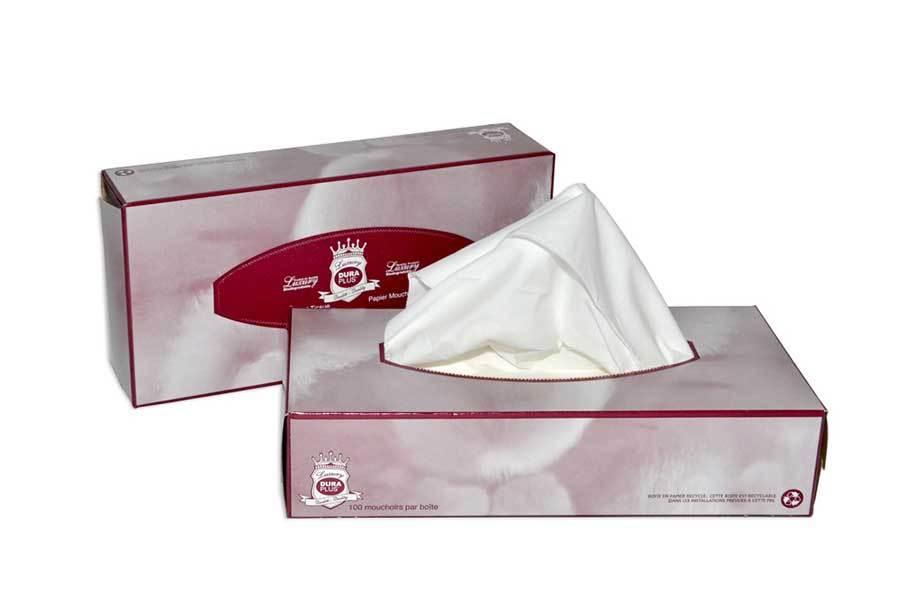 Dura Plus Quality Facial Tissue 100 sheets per box - Pack 30 boxes