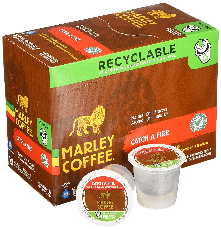 Marley Coffee Catch a Fire Single Serve Coffee (24 Pack)