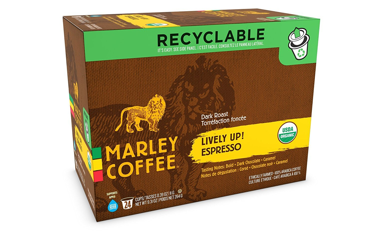 Marley Coffee Lively Up Single Serve Coffee (24 Pack)