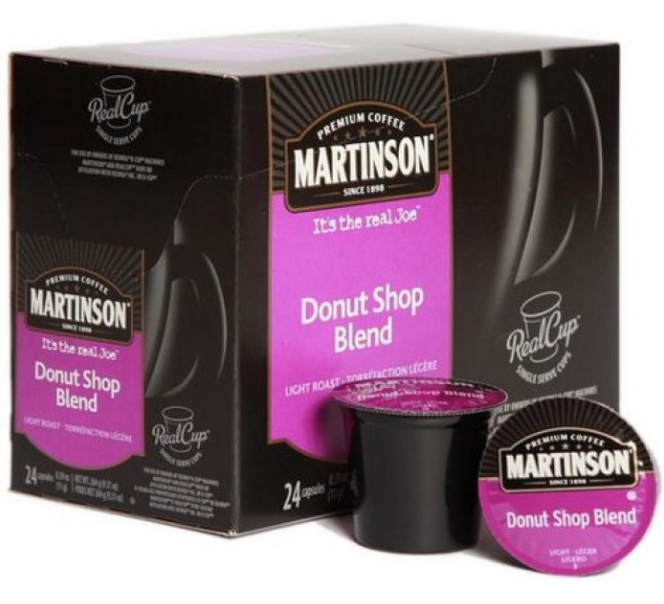 Martinson Coffee Donut Shop Blend Single Serve Coffee (24 Pack)