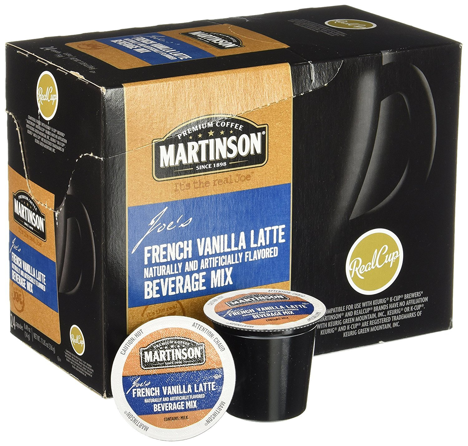Martinson® French Vanilla Latte Single Serve Cups (24 Pack)