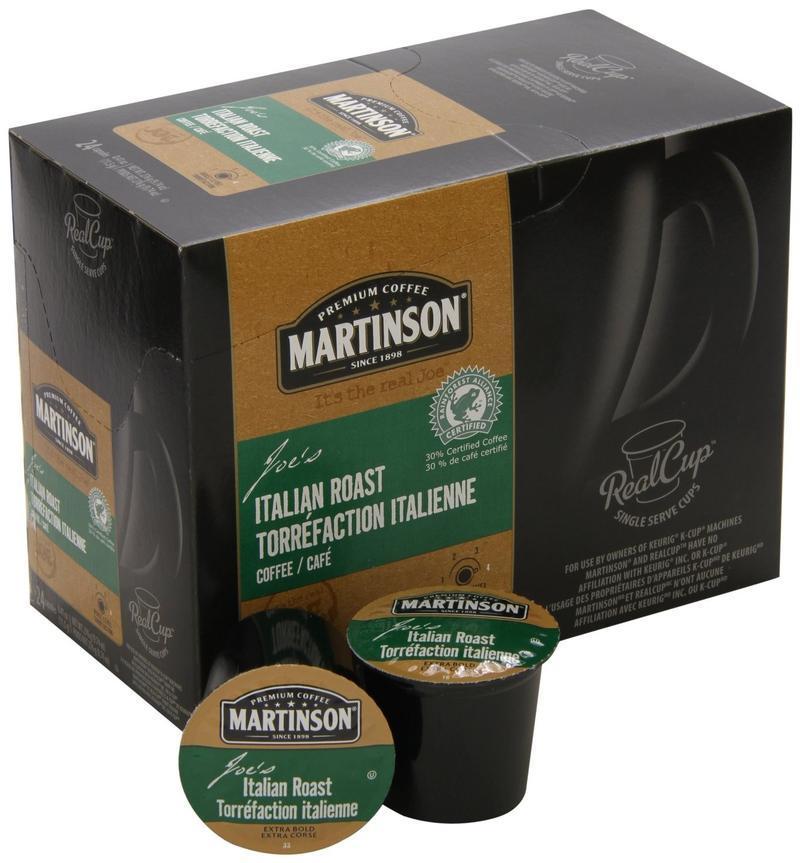 Martinson Coffee Italian Roast Single Serve Coffee (24 Pack)