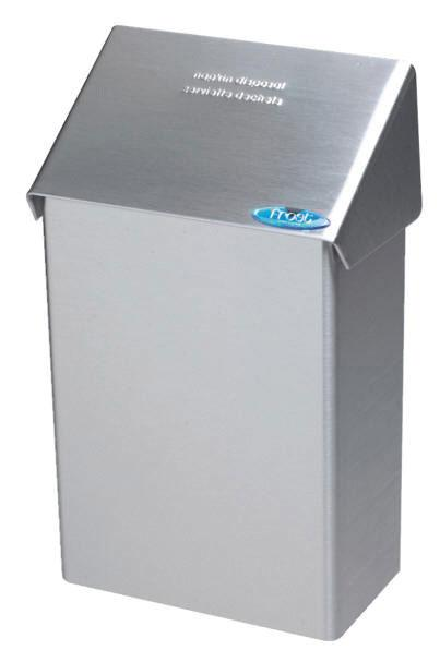 """Stainless Steel Receptacle 8""""X13.25""""X4.5"""" For Sanitary Napkins/Pads"""