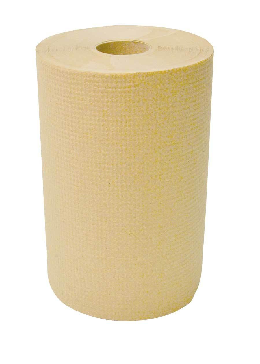 """Cascade Brown Hand Paper Roll 8"""" X 350' - 12 Rolls"""