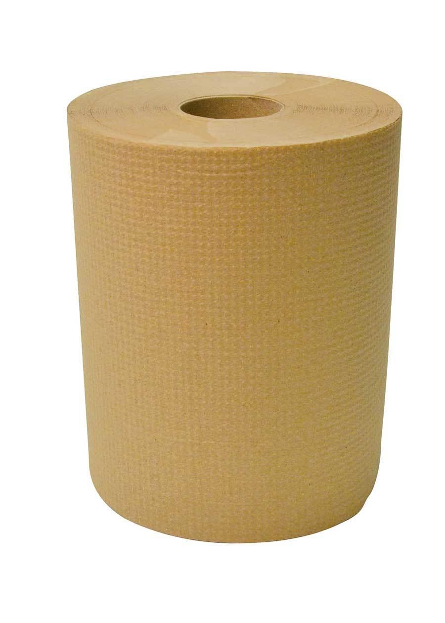 "Dura Plus Brown Diamond Hand Paper Roll 8"" X 425' - 12 Rolls"