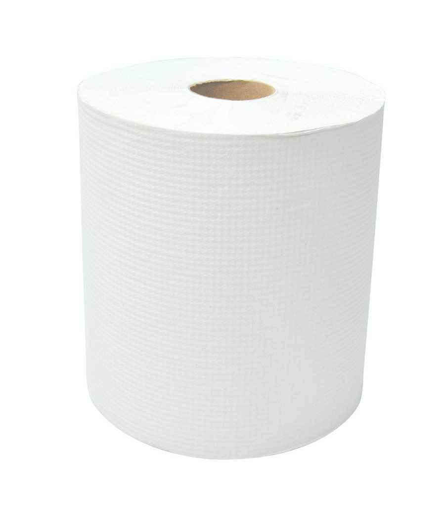 "Cascade White Hand Paper Roll 8"" X 600' - 12 Rolls"