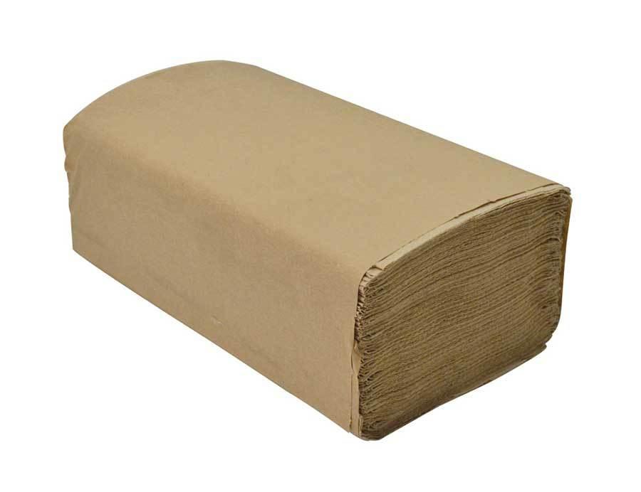 "Cascade Brown Single Fold Diamond Hand Towels 250 Sheets X 9 """