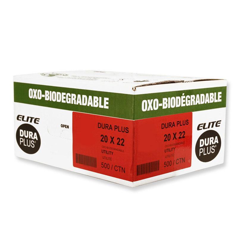 """DURA PLUS Elite 20""""x 22"""" OXO Clear/Poly. Garbage Bags Cs/500 (Utility)"""