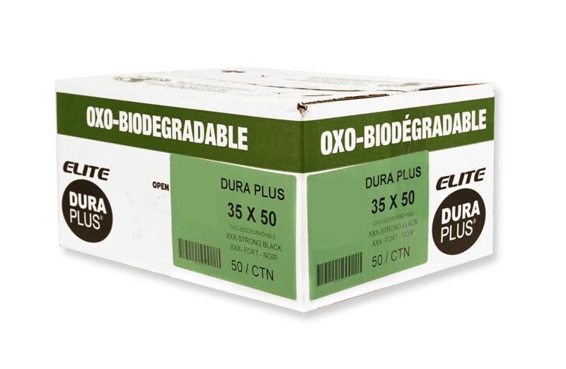 "DURA PLUS Elite 35"" x 50"" OXO Black/Poly Garbage Bags Cs/50 (Ultra Strong)"