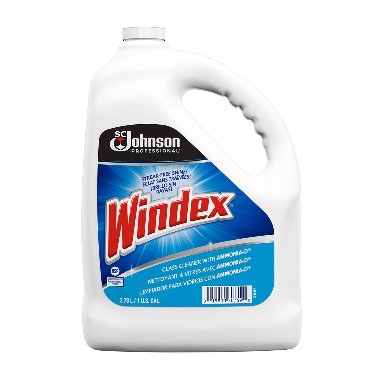 Windex PRO Glass Cleaner - 3.8L per bottle - 4/Case