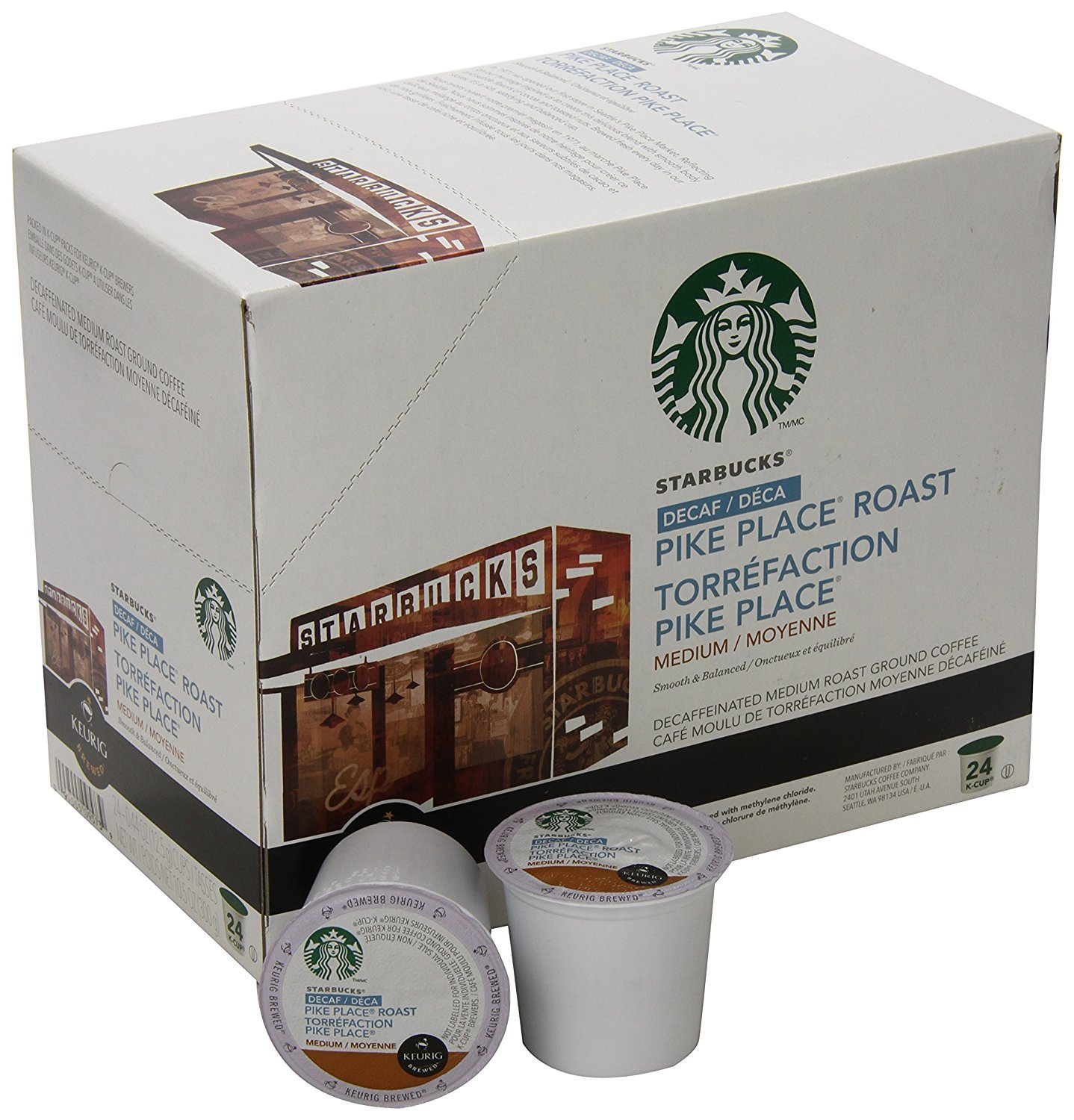Starbucks® Decaf Pike Place Roast K-Cup® Pods (24 Pack)