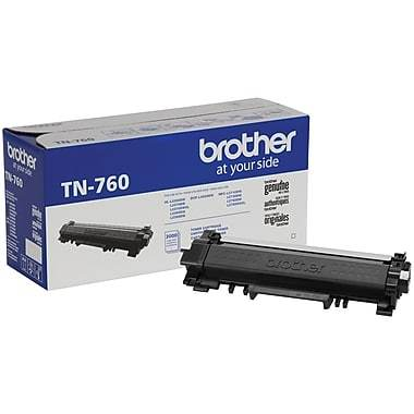Brother Original Black Toner Cartridge, High Yield TN760