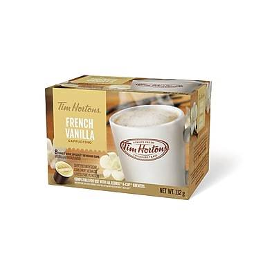 Tim Hortons® French Vanilla Cappuccino Single Serve Cups (8 Pack)