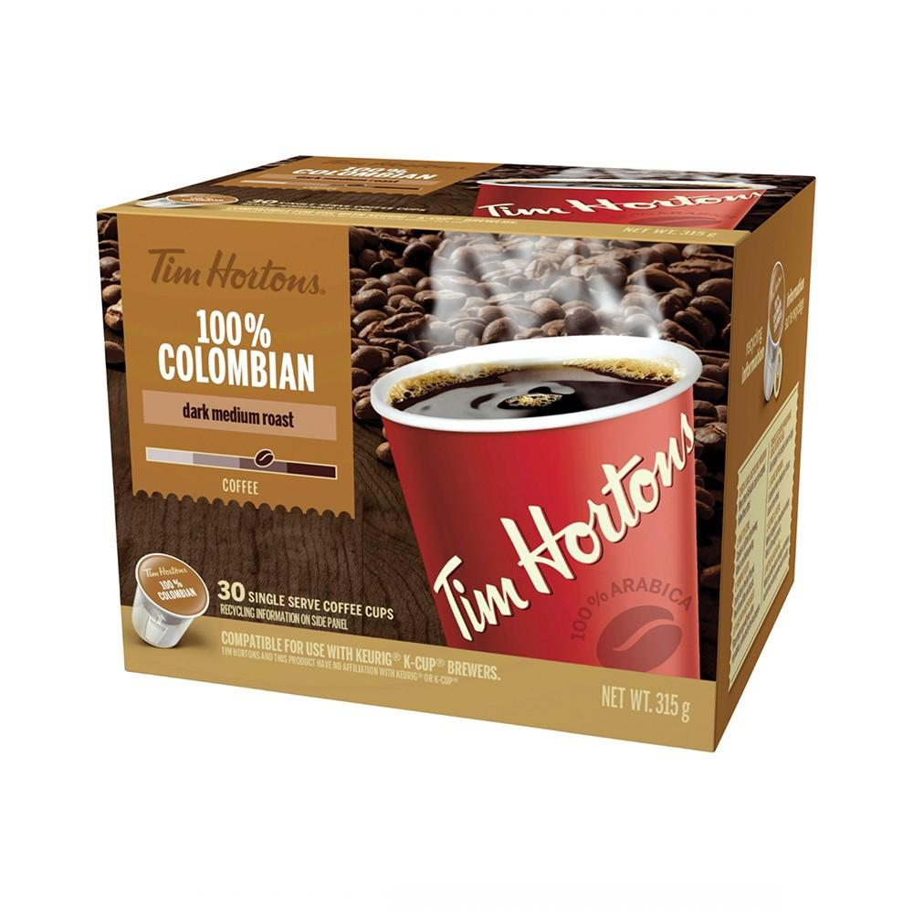 Tim Hortons® 100% Colombian Single Serve Coffee (30 Pack)