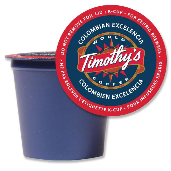 Timothy's® Colombian Excelencia Single Serve K-Cup® Pods (24 Pack)