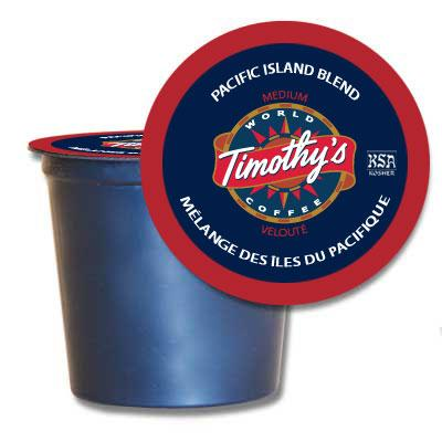 Timothy's® Pacific Island Blend Single Serve K-Cup® Pods (24 Pack)