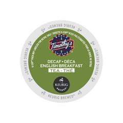 Timothy's® English Breakfast Decaf Single Serve Tea Pods (24 Pack)