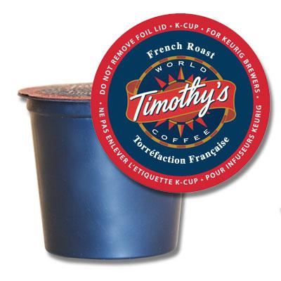 Timothy's® French Roast Single Serve K-Cup® Pods (24 Pack)