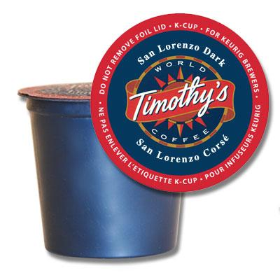 Timothy's® San Lorenzo Single Serve K-Cup® Pods (24 Pack)