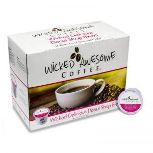 Wicked Awesome Coffee Wicked Delicious Donut Shop Single Serve Coffee Cups (24 Pack)