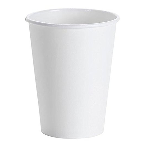 Hot Beverage White Single Wall Paper Cups - 12 oz. - 50 Cups
