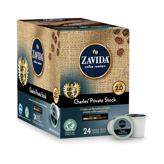 Zavida® Private Stock Single Serve Coffee Cups (24 Pack)