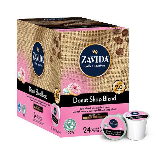Zavida® Donut Shop Single Serve Coffee Cups (24 Pack)