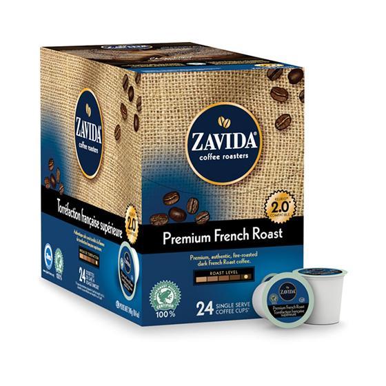 Zavida® Premium French Roast Single Serve Coffee Cups (24 Pack)