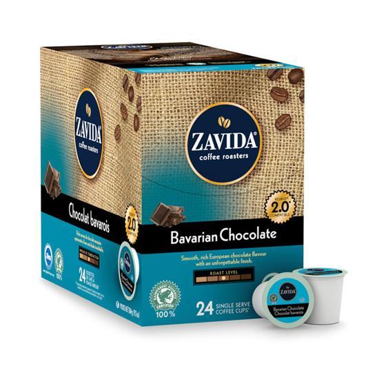 Zavida® Bavarian Chocolate Single Serve Coffee Cups (24 Pack)