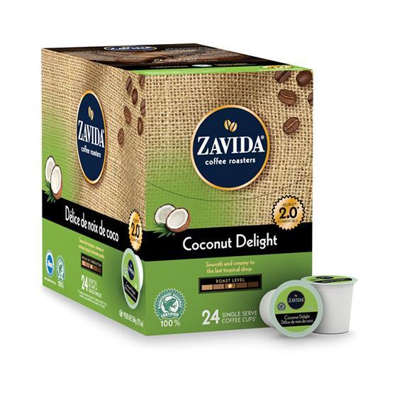 Zavida® Coconut Delight Single Serve Coffee Cups (24 Pack)